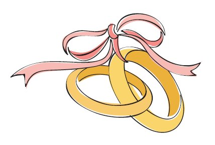 1Wedding Rings Line Drawing